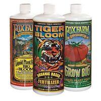 Fox Farm Trio Quarts - Big Bloom Soil Grow Big & Tiger Bloom Qt Ea. Foxfarm 32oz