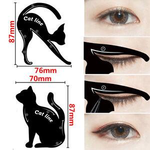 Mujer-Gato-Linea-pro-Ojo-Maquillaje-Herramienta-Delineador-de-Ojos-Plantillas