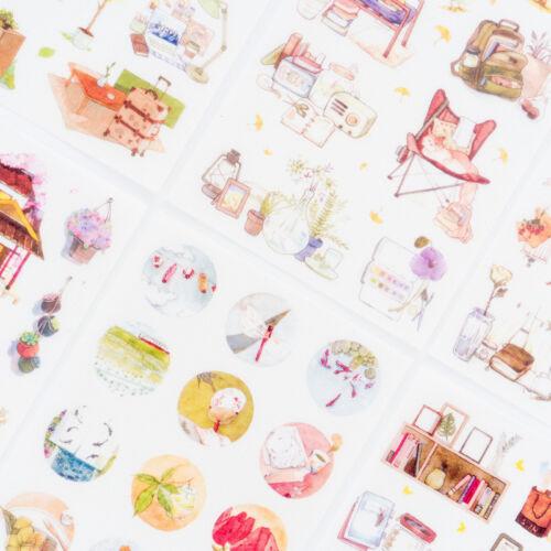 6pcs Warm Homeland Sticker Set DIY Scrapbooking Photo Album Label Stickers