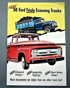 ORIGINAL-1956-FORD-TRUCKS-SALES-BROCHURE-10-5-034-X-14-034-8-PAGES-56FTE