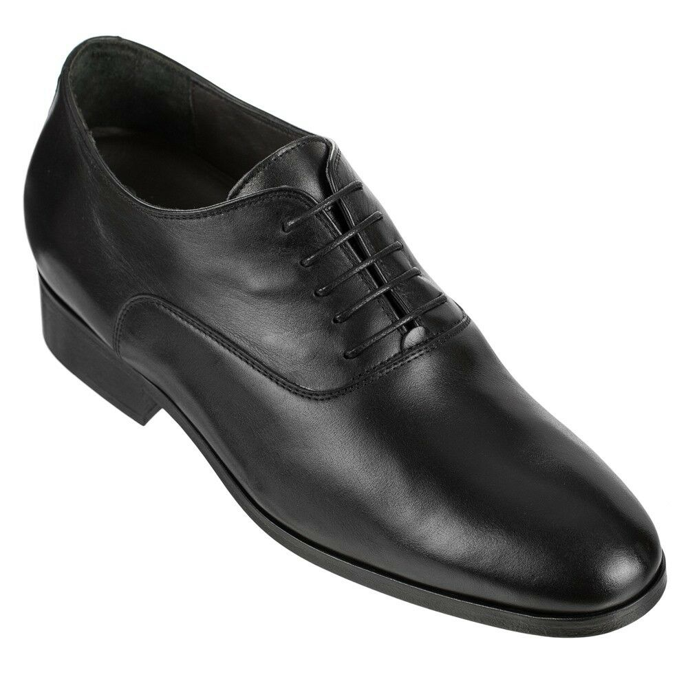 CALTO D0225 - 2.8 Inches Height Increase Elevator Plain Toe Italian Leather chaussures