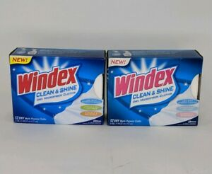 Windex Clean And Shine Microfiber Cloths 12 Clothes Per Box Lot Of 2 New Ebay