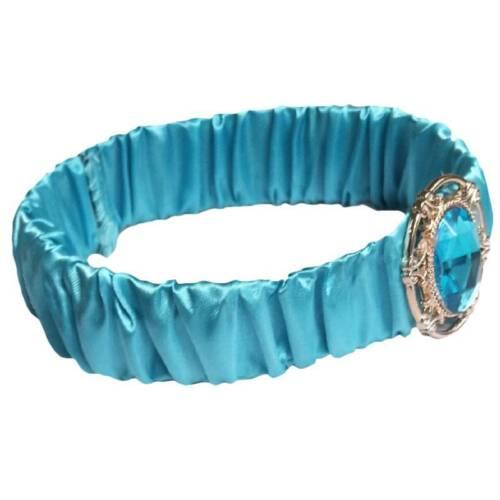 Girls Pretty Jasmine Princess Forehead Tiara Turquoise Hair Headband Accessories