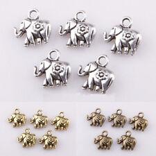 Wholesale 30pc Tibetan silver Thailand Elephant Charm Pendant Findings For Craft