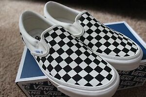vans slip on checkerboard lx
