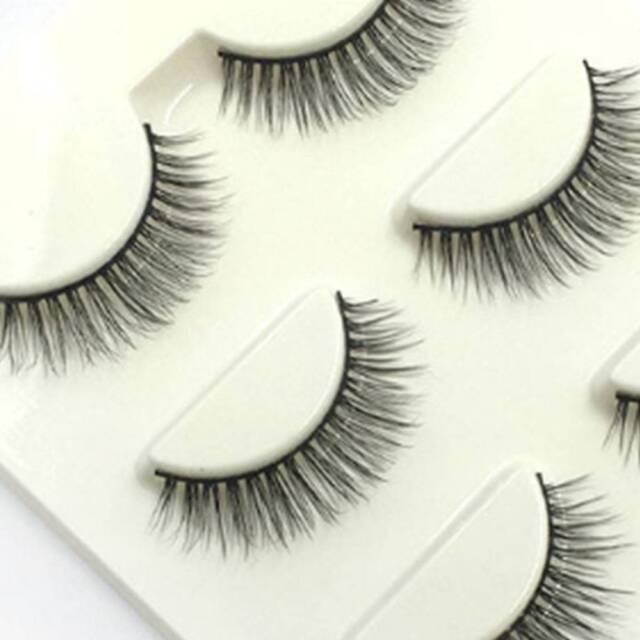 3 Pairs Eye Beauty Long Natural Thick Makeup Eye Lashes False Eyelashes r