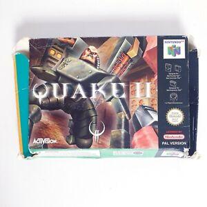 Quake 2-Nintendo 64 N64 juego PAL-Envío Gratis + Caja Y Manual