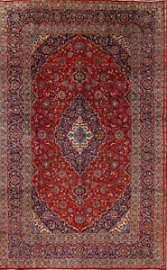 Vintage-Floral-Ardakan-Hand-Knotted-Traditional-Oriental-Area-Rug-8-039-x13-039-Carpet