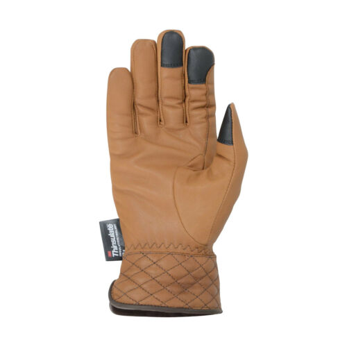 Hy Hy5 Adults Quilted Soft Leather Thinsulate Winter Riding Gloves Tan XS-XL