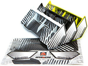 Bittydesign-discreto-1-8-Buggy-amp-Truggy-Wing-lista-Multiple-Negro-Blanco-yellowd