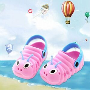 b2646e039c5 Summer Cute Boys Girls Sandals Garden Shoes EVA Caterpillar Kids ...