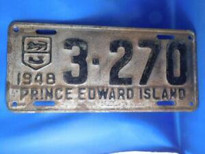 PRINCE-EDWARD-ISLAND-LICENSE-PLATE-1948-3270-VINTAGE-CANADA-CAR-GARAGE-SIGN