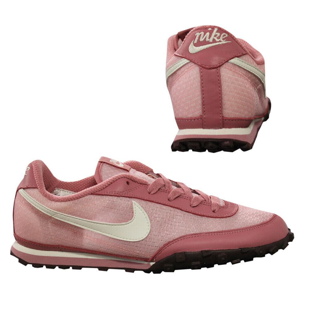 reputable site fa140 8a2e6 Nike Waffle Waffle Waffle Racer II da donna basse lacci scarpe da  ginnastica rosa rosa 303919 611 D71 977823