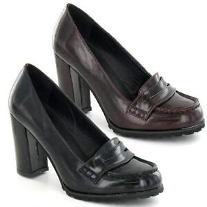 ladies high heels court shoes womens smart office loafers