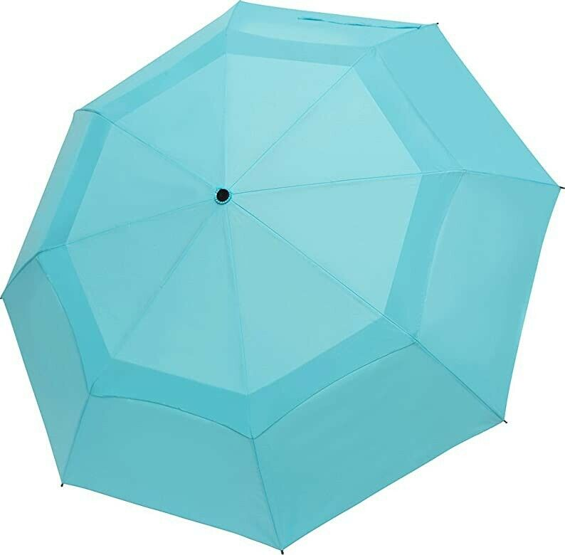 Benkii Windproof Double Canopy Umbrella with Teflon coating - Compact Blue