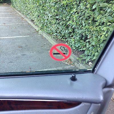 12 Chiara No Smoking Vista Adesivi entrambe le parti su Vetro Segno Sticker 46 mm