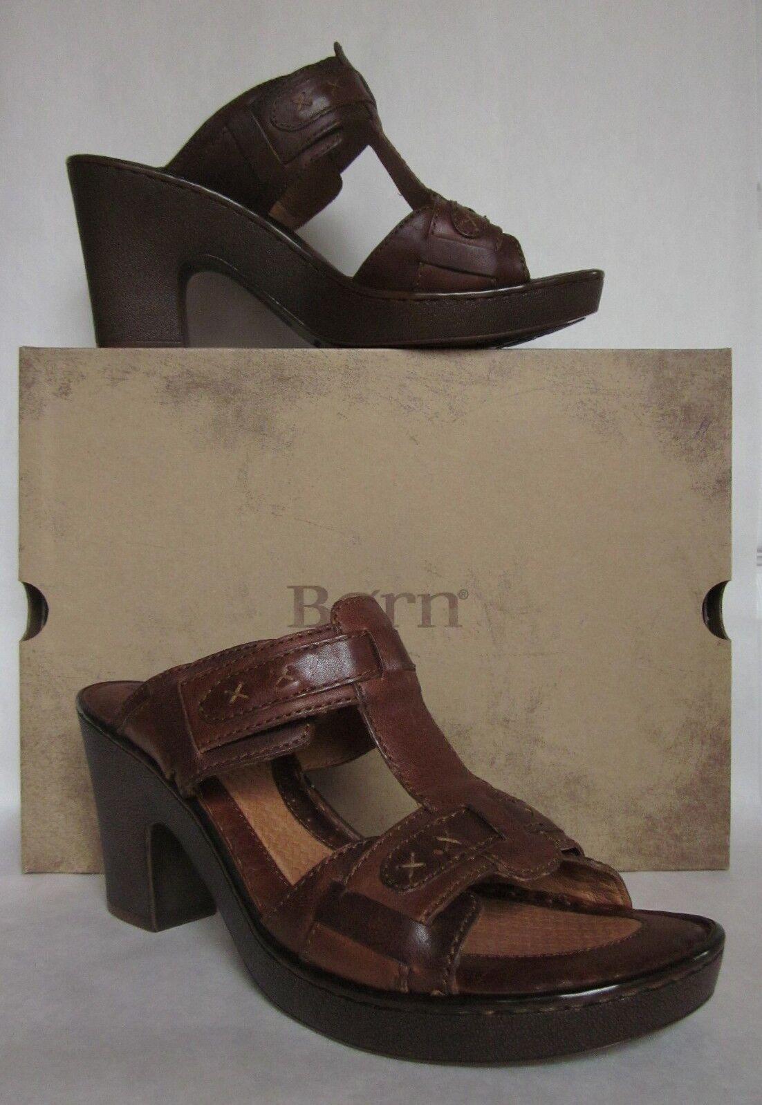 Born Beam Brown Platform Sandal - Size 11