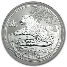 2010 1 oz Silver Australian Perth Mint Lunar Year of the Tiger Coin - SKU #54872