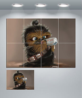 Star Wars Chewbacca Baby Giant Wall Art poster Print