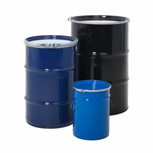 110 L 205 L Haut Ouvert Acier Stockage Baril//Batterie 3 tailles disponibles 25 L
