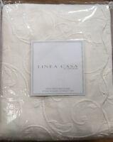 Linea Casa Sferra King 3pc Matelasse Scalloped Edge Ivory Cream Coverlet Set