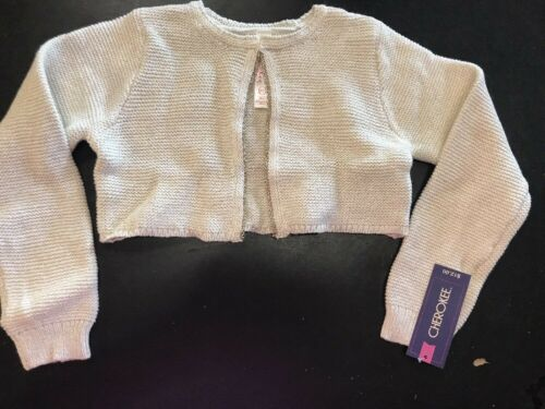 Toddler Girls Sweater Shrug Metallic Almond Cream Gold 5T NWT