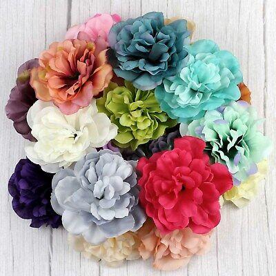 Mix 12pcs Lot 4 Artificial Fake Flowers Heads Bulk Peony Silk Flower Home Decor Ebay