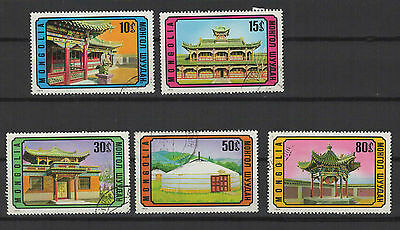 Topical Stamps 2019 Fashion Architecture Mongole Mongolie 1974 Série De 5 Timbres T1664 Unequal In Performance