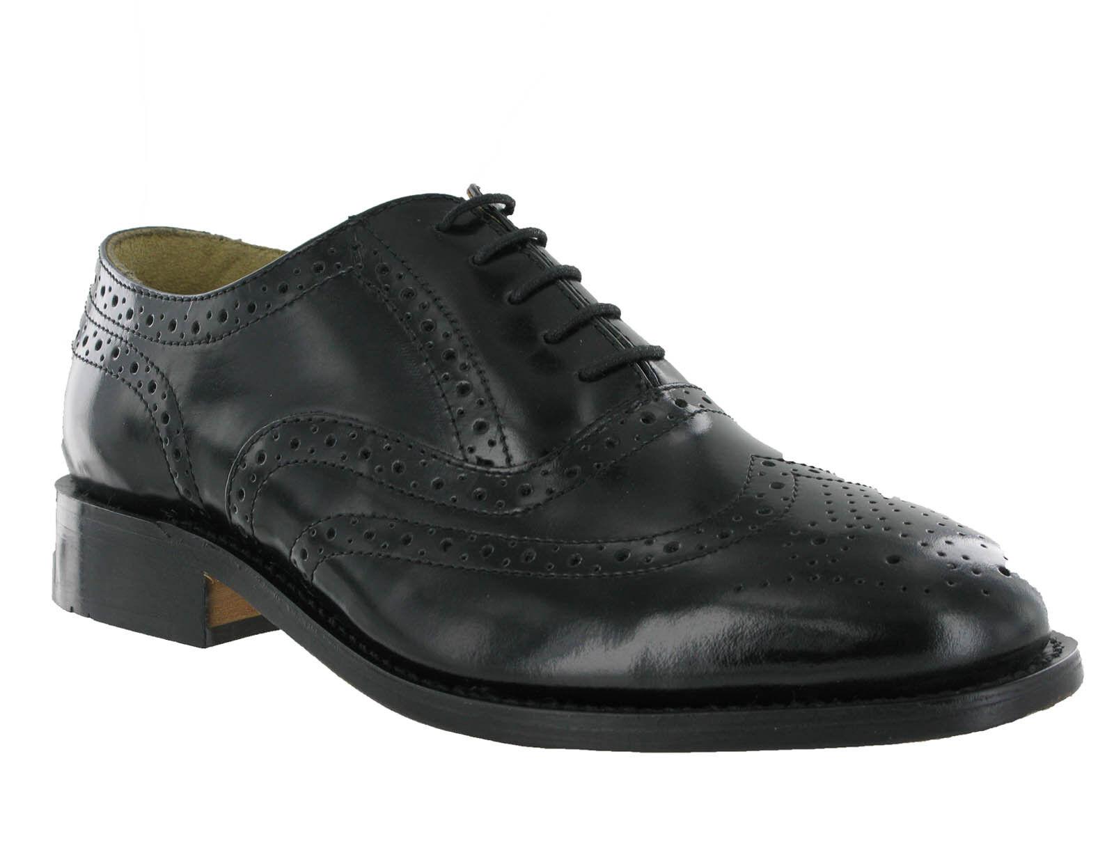 In pelle nera Kensington CALATA Formali Eleganti Nozze Abito da uomo Tg  Scarpe classiche da uomo
