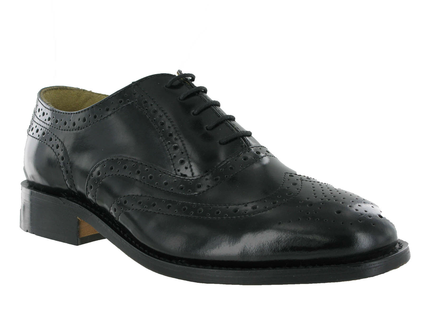 LEATHER BLACK ... KENSINGTON BROGUE FORMAL SMART Schuhe WEDDING Herren ... BLACK 60b54d