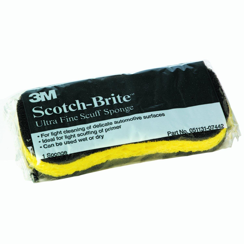 3M 07442 Scotch-Brite Ultra Fine Scuff Sponge Pack of 10