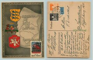 Germany-1947-Baltic-DP-post-card-Augsburg-DP-Camp-Hochfeld-Est-Latv-Lith-f7678