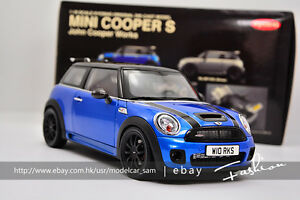 Kyosho 1 18 Bmw Mini Cooper S Blue Ebay