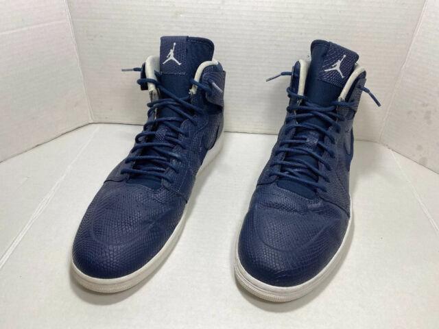 Nike Air Jordan Retro High Nouveau Snakeskin Midnight NavyWhite 15