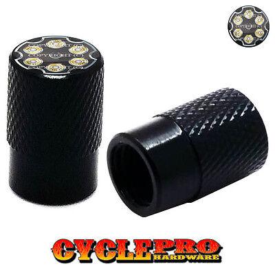 44 MAG REVOLVER 2 Silver Billet Knurled Tire Valve Cap Motorcycle 023
