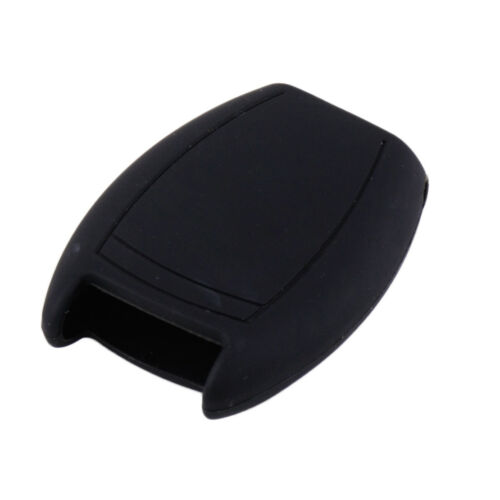 Black 3 Buttons Silicone Smart Remote Key Cover Case Fob Fit For Mercedes C280