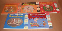 Lot Of 5 Curious George Tabbed Board Books By H.a. Rey, Margret Rey
