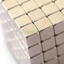 100PCS Neodymium Magnets 5mm Cube N50 Rare Earth Disc Super Strong Rare Earth