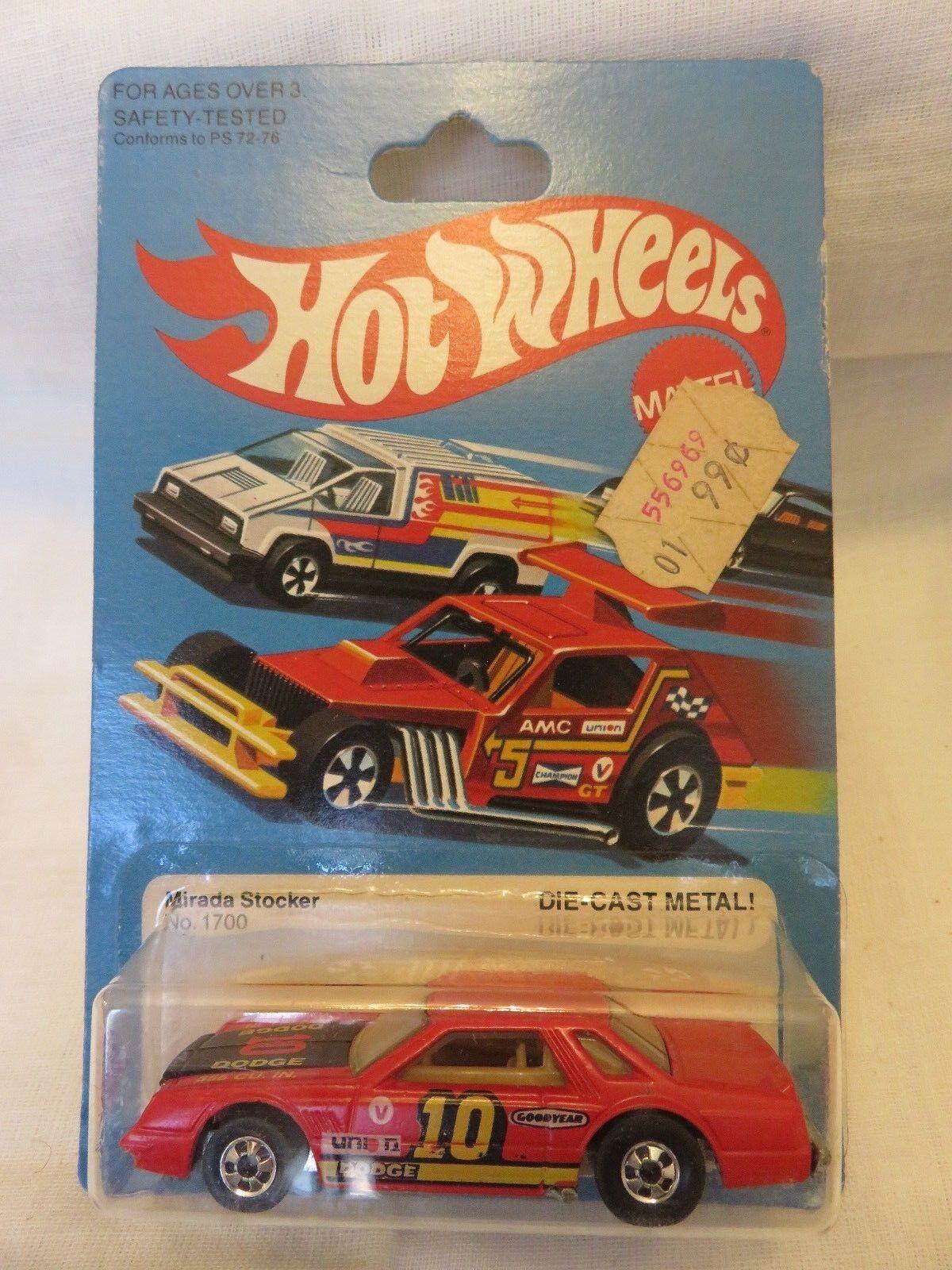 1981 Vintage Hot Wheels Mirada Stocker  10 Red 1700 Hong Kong Die-Cast Metal A