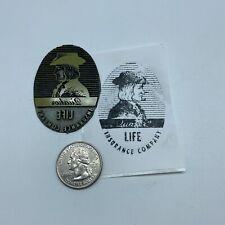 Vintage Quaker Life Insurance Company Advertising Letterpress Block Plate Stamp