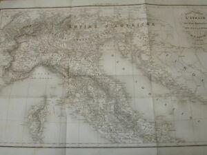 Carte D'italie Dessinée Par Th. Duvotenay 1836 Wfhtr4ej-08005605-286191243