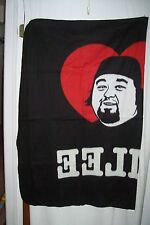 CHUMLEE CHUM LEE TV PAWN STAR PICTURE BLACK FLEECE THROW BLANKET