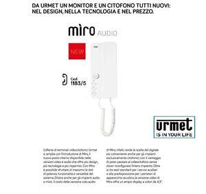 Urmet citofono miro 39 1183 5 per sistema 2voice comfort for Videocitofono urmet domus schema