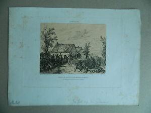 Jules Devaux Antigua Grabado Agua Fuerte Original Firmada Fecha Aqua-Forti 1852