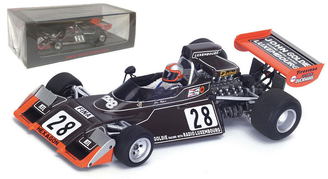 Spark S4785 Brabham BT42 th Monaco GP 1974-John Watson Escala 1 43