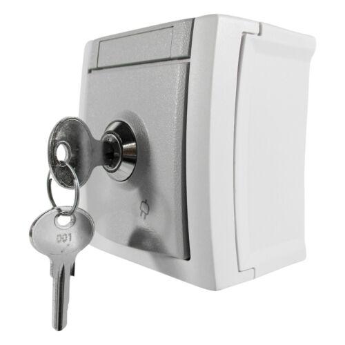 Steckdose mit schloss Steckdose abschließbar abschließbare Steckdose Aufputz AP