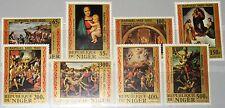NIGER 1983 835-42 614-21 Raphael Raffael Paintings Gemälde Art Kunst MNH