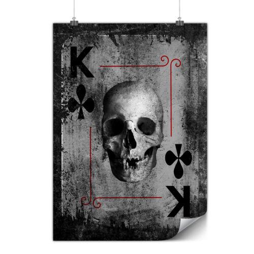 Poker Card Play Skull Matte//Glossy PosterWellcoda