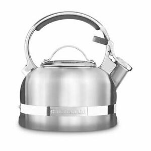 kitchenaid 4 1 2 quot red stainless steel kitchenaid ktst20sbst stainless steel non electrical stove top kettle 1 9 litre 883049345383 ebay 6338