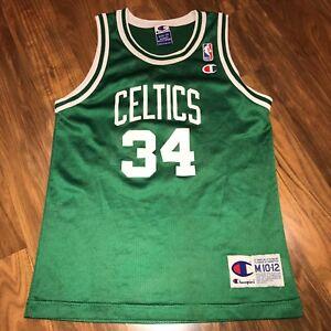 eafea7b87340 Vtg 90s Champion BOSTON CELTICS Paul Pierce Youth MEDIUM Basketball ...